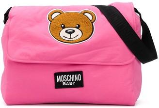 MOSCHINO BAMBINO Logo Teddy Print Shoulder Bag