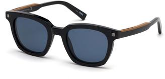 Ermenegildo Zegna Men's Shiny Acetate Sunglasses - Polarized