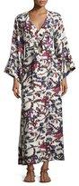 Elizabeth and James Howe Long-Sleeve Kimono Robe Dress, Ivory