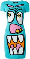 Jeremy Scott cartoon face knit dress