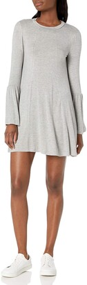 BCBGeneration Women's Open Back Ruched Sleeve Dress