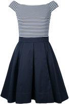 GUILD PRIME striped boat neck dress - women - Polyester/Polyurethane - 34