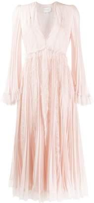 Giambattista Valli V-Neck Lace Midi Dress