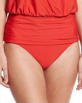Athena Cabana Solids Landa Mid-Rise Hipster Swim Bottom, Persimmon