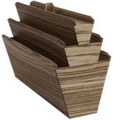 Vitruvio Design Zebra Wood Magazine Holder