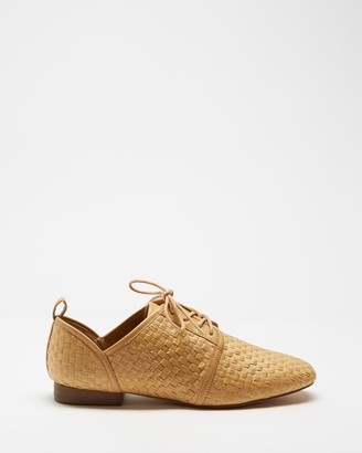 Spurr Women's Brown Brogues & Loafers - Shay Lace Up Flats - Size 6 at The Iconic