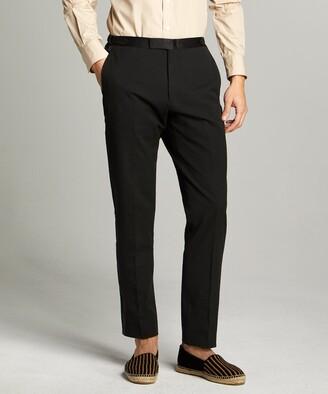 Todd Snyder Black Label Sutton Tuxedo Pant in Italian Black Seersucker