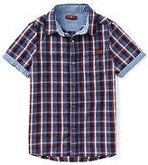 7 For All Mankind Big Boys 8-20 Plaid Button-Down Shirt