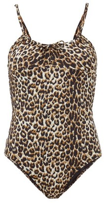 Belize - Drindle Drawstring Leopard-print Swimsuit - Leopard