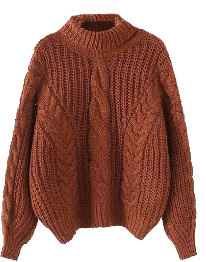 Goodnight Macaroon 'Kaipo' Roll Neck Chunky Cable Knit Sweater (4 Colors)