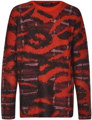 Neil Barrett Animal Knit Semi Check Sweater