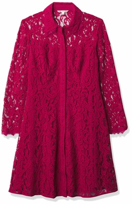 Nanette Lepore Women's L/S Lace B/F Shirt Dress
