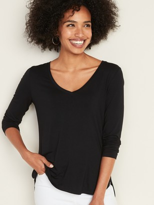 Old Navy Luxe Bracelet-Sleeve V-Neck Tee for Women