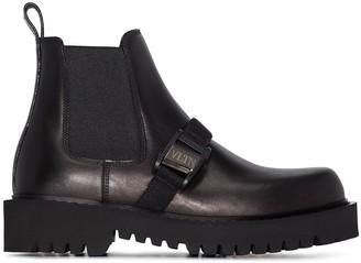 Valentino Beatle VLTN logo buckle boots