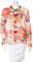 Equipment Floral Print Silk Top