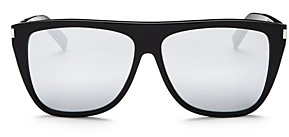 Saint Laurent Men's Sl 1 Mirrored Flat Top Square Sunglasses, 59mm