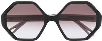 Chloé Eyewear octagonal frame sunglasses