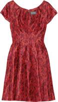 Zac Posen Leopard-print taffeta dress