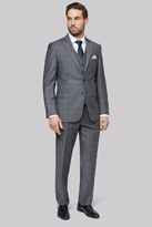 Savoy Taylors Guild Regular Fit Grey with Lilac Check Suit