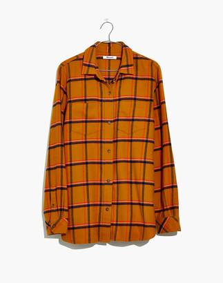 Madewell Flannel Classic Ex-Boyfriend Shirt in Caffrey Plaid