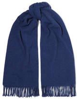 Acne Studios Canada Fringed Wool Scarf - Blue