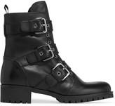 Prada Buckled Leather Boots - Black
