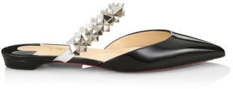 Christian Louboutin Planet Studded Patent Leather Mules