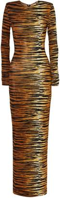 Alexandre Vauthier Tiger-print Jersey Maxi Dress