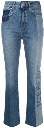 Iceberg Two-Tone Kick-Flare Jeans