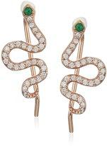 Shashi Pave Snake Climber Earrings