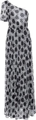 Missoni One-Shoulder Printed Jersey Maxi Dress