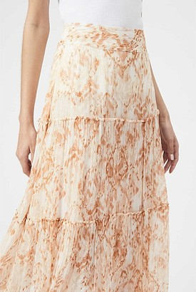 Witchery Georgette Tiered Print Skirt