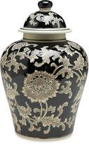 AA Importing 10 Florent Ginger Jar, Black/Cream