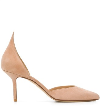 Francesco Russo Pointed 85mm Heel Suede Pumps