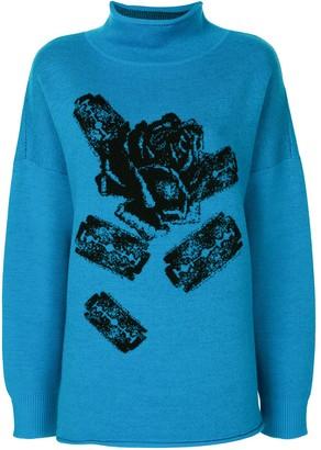 Undercover Rose Print Jumper