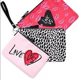 Victoria's Secret Wristlet Heart Trio Cosmetic Bag