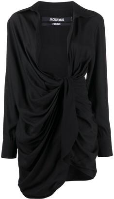 Jacquemus La Robe Bahia ruched dress