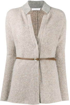 Fabiana Filippi Sequin Collar Cardigan