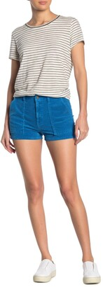 Pam And Gela Mid Rise Patch Pocket Shorts