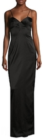 Black Halo Behati Solid Gown