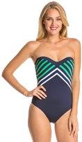 Vitamin A Sail Stripe Bandeau One Piece Swimsuit 8134740