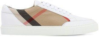 Burberry 20mm Salmond Leather & Check Sneakers