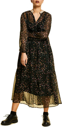 Marina Rinaldi Plus Size Dattilo Floral Print Crepon Dress