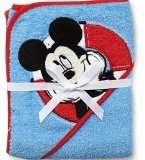 Disney Mickey Mouse Baby Hooded Bath Towel 26 in x 30 in