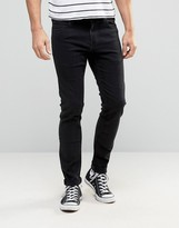 Lee Malone Super Skinny Jeans Ink Black