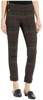 Lisette L Montreal Ibiza Plaid Print Ankle Pants w/ Cuffs (Porto) Women's Casual Pants