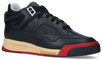 Maison Margiela Leather Ddstck Low-Top Sneakers