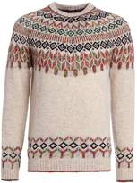 Roberto Collina Fairisle Crewneck Jumper White/multi