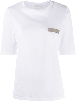 Fabiana Filippi chest pocket T-shirt