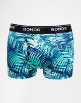 Bonds Guyfront Trunks In Palm Print Microfibre - Blue